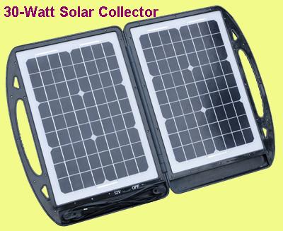 2 x Max Burton PowerMate 8 Watt 16V Portable Solar Collector Panels